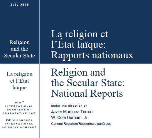 Image for <em>Religion and the Secular State: Interim Reports</em>