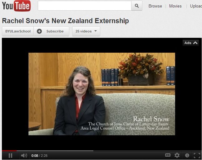 Image for Summer Externship in New Zealand: Rachel Snow