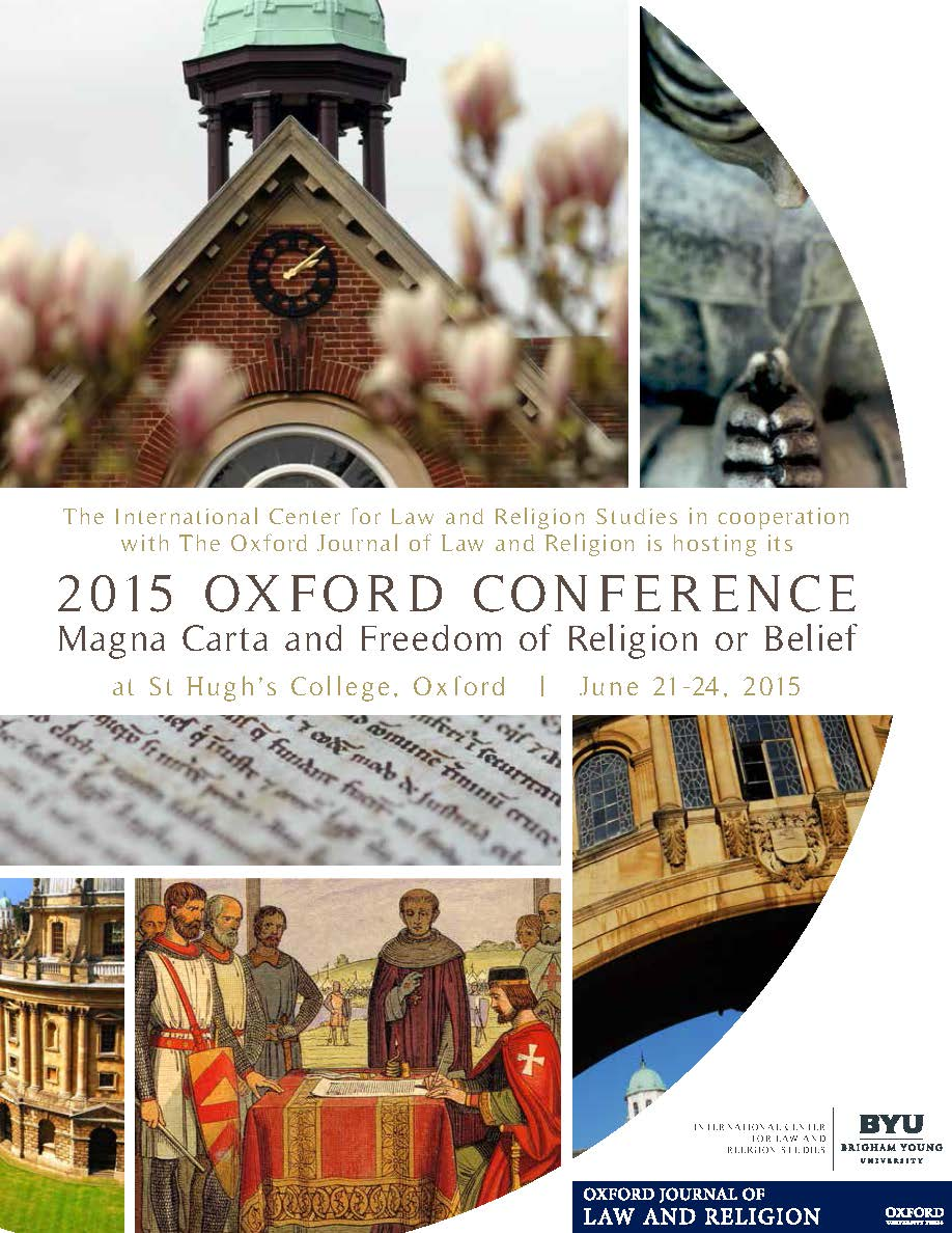 Image for The 2015 Oxford Conference: Magna Carta and Freedom of Religion or Belief
