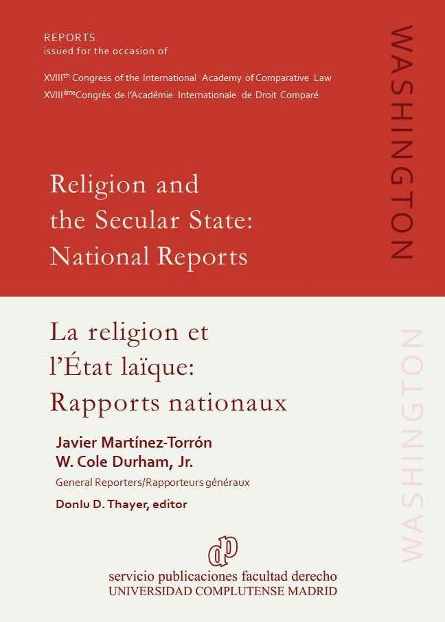 Image for <em>Religion and the Secular State: National Reports</em>