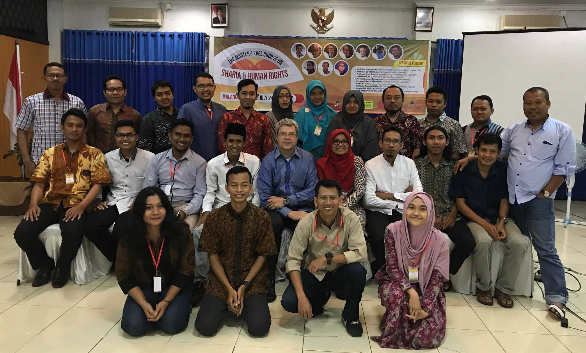 Image for Scharffs Lectures as Visiting Professor, Masters Level Course on Shari'a and Human Rights, Muhammadiyah University, Malang, Indonesia