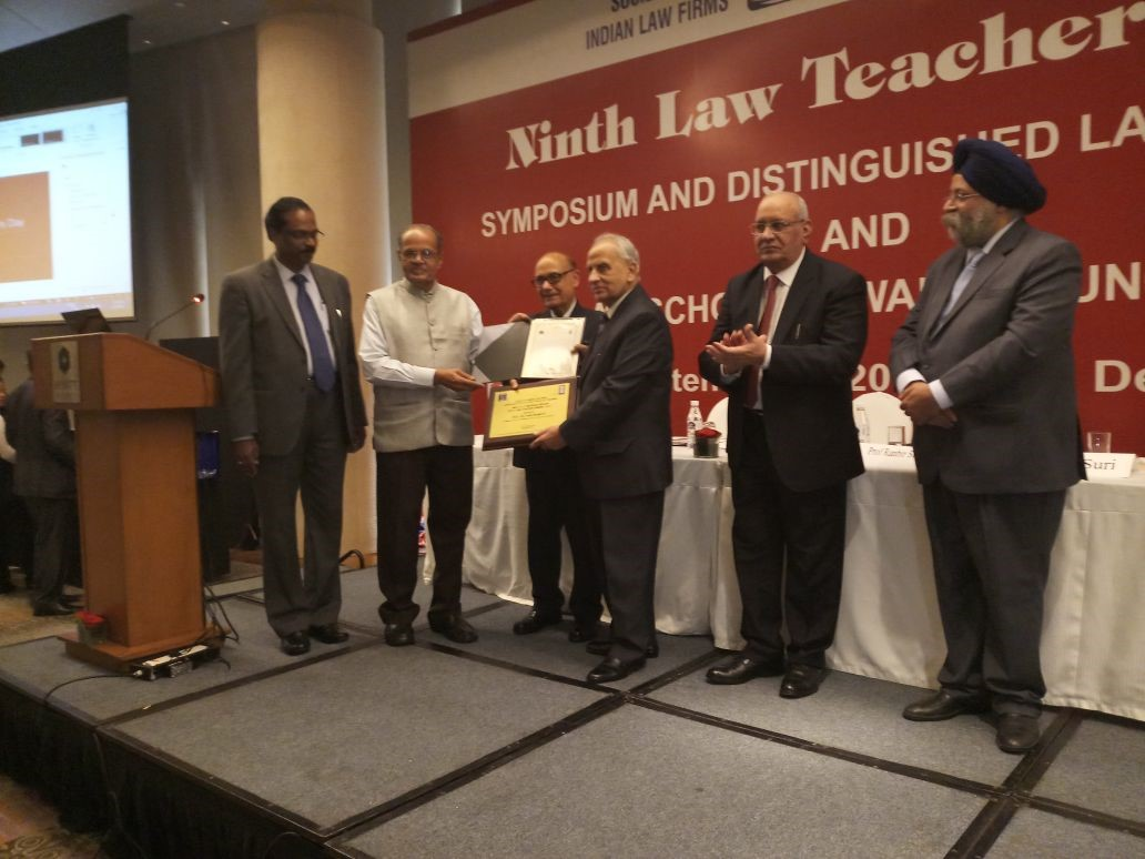 Image for Prof. (Dr.) Tahir Mahmood Receives N.R. Madhava Menon Best Law Teacher Award 2017