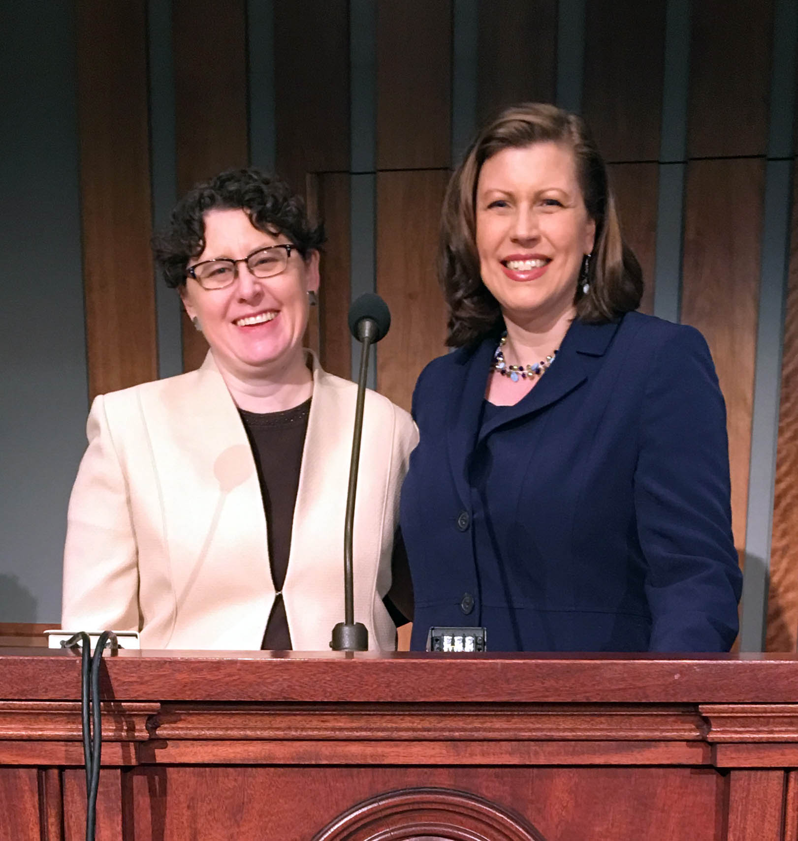 Image for Elizabeth Clark and Hannah Clayson Smith speak at BYU Women's Conference, May 2018